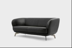 Leolux Sofa Flint in Leder anthrazit