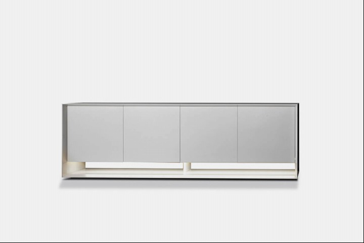 Bonaldo Sideboard Sunrise in Lack weiss