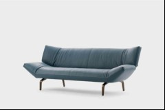 Leolux Sofa Devon in Leder blau